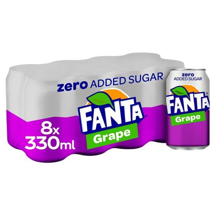 Fanta Grape Zero 8x330ml