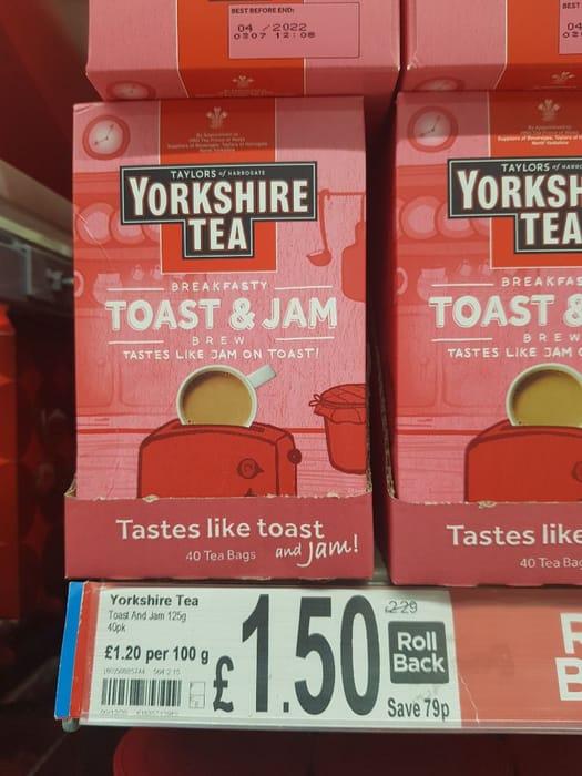 Taylors of Harrogate Yorkshire Tea Toast & Jam Brew 40 Teabags