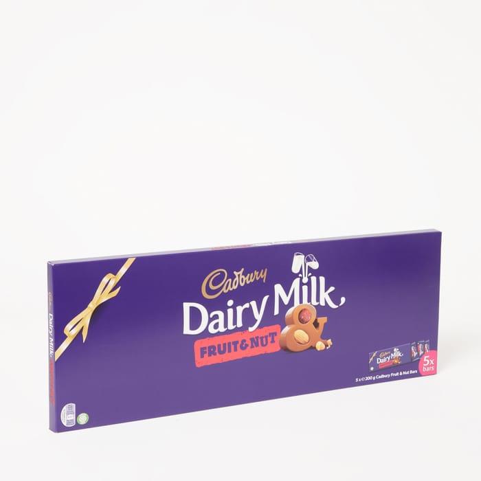 Cadbury - 5 Pack Cadbury 'Dairy Milk Fruit & Nut' Chocolate Bars 1kg