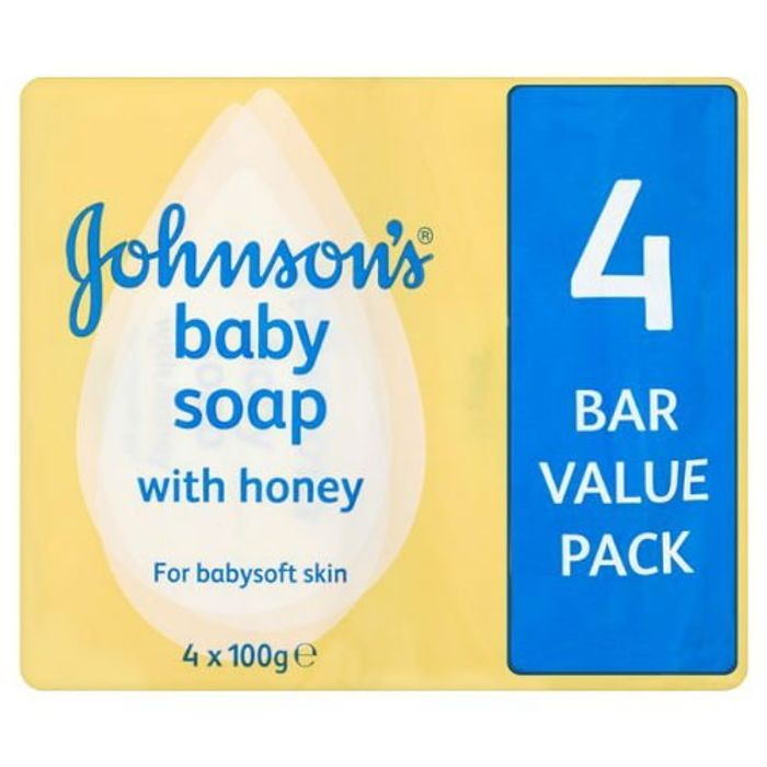 24 Bars Johnson's Baby Soap with Honey 4 X 100g (Case of 6)