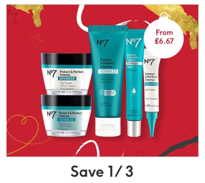 Todays Offer : Save 1/3 on No7 Protect and Perfect Skincare and Cosmetics