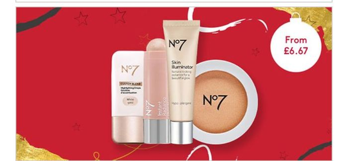 12 Days of Beauty Treats save 1/3 on No7 Highlighters /6 Products Available