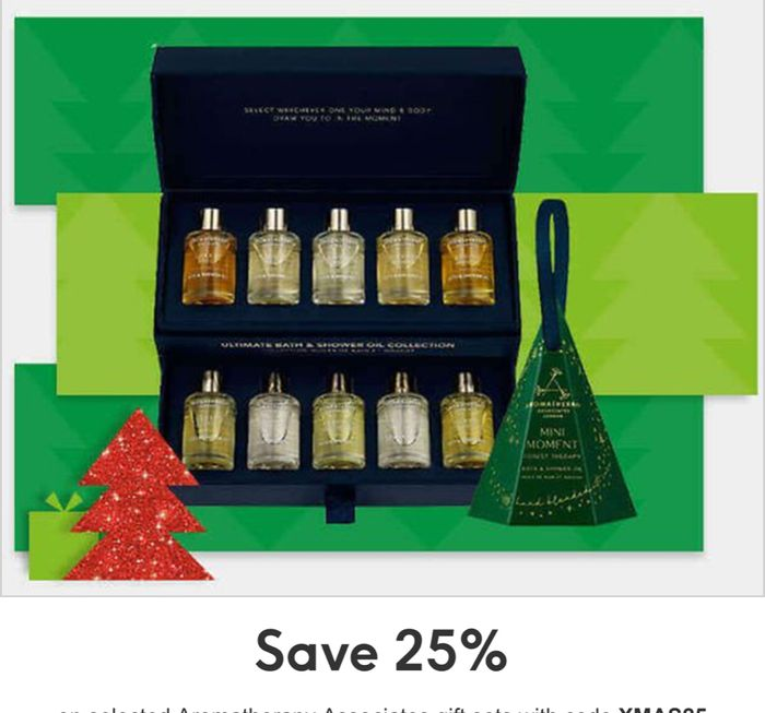 Save 25 Percent on Selected Aromatherapy Associates Gift Sets with Code XMAS25
