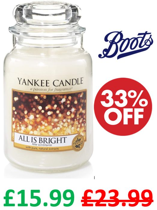 Yankee Candle LARGE JAR Scented Candle - ALL IS BRIGHT