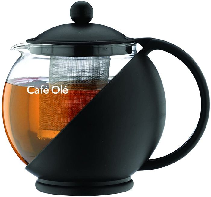 Cafe Ole Everyday round Tea Pot Infuser Black 700ml
