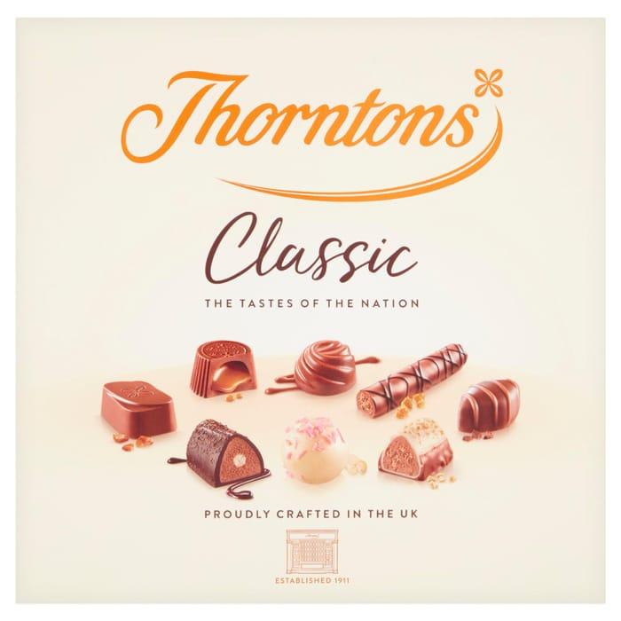 Thorntons Milk, Dark, White Classic Collection Chocolate Box