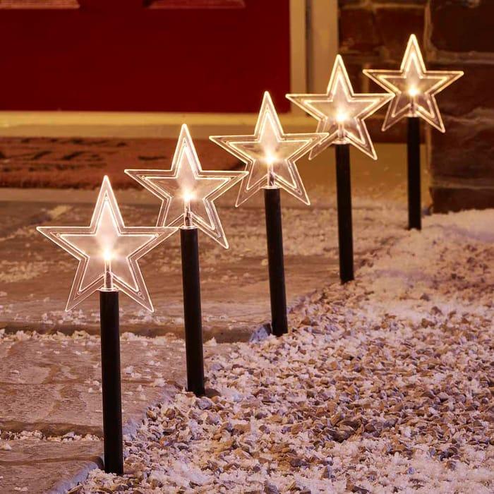 Wilko Outdoor Battery Operated Star Stick Lights