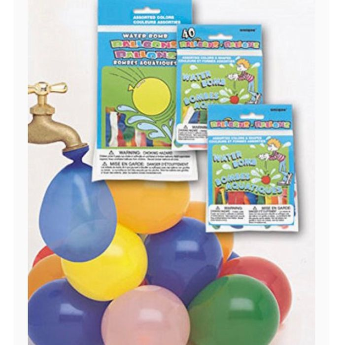 Cheap Latex Assorted Water Balloons Pack of 40 at Amazon