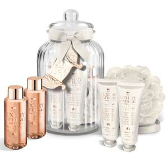 Luxury Bathing Company Warm Vanilla & Fig Spa in a Jar