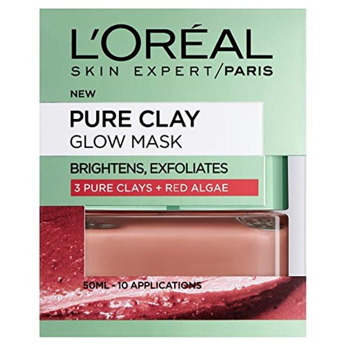 LOreal Paris Face Mask Pure Clay Glow, 50ml