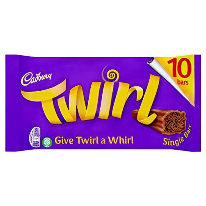 Cadbury Twirl Chocolate Single Bar - Pack of 10