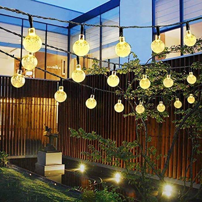 Lightning Deal! Solar String Lights 23Ft 50LED