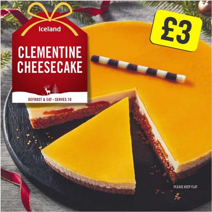 Iceland Clementine Cheesecake 800g