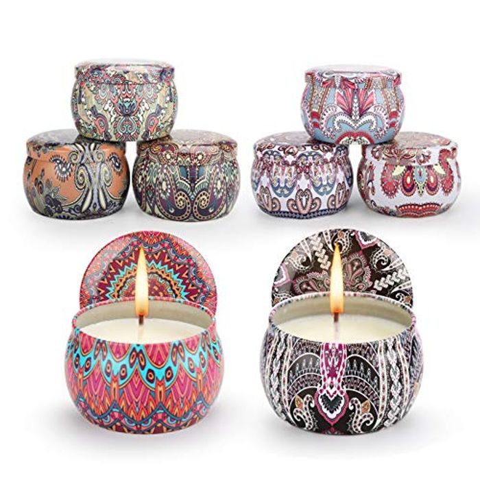 (Link in Description) Save 60%! Scented Candle Gift Set of 8 Pack