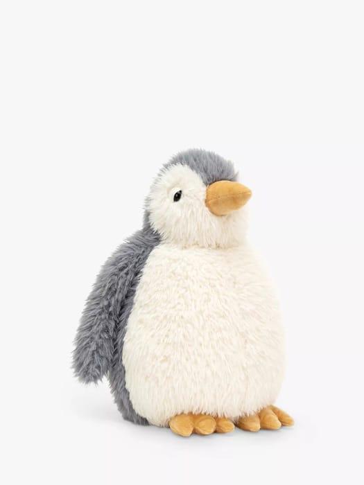 Jellycat Rolbie Penguin Soft Toy, Grey/White