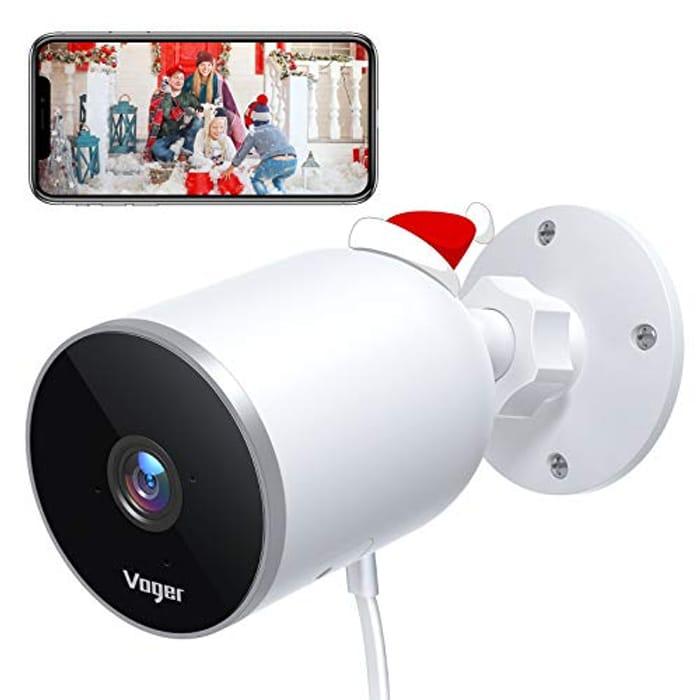 Half Price! Voger Outdoor Security Camera, 1080P WiFi