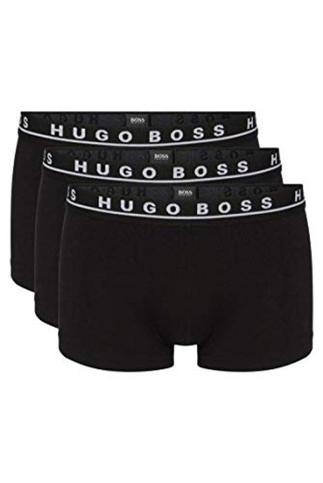BOSS Mens Trunk 3P CO/EL Three-Pack of Stretch-Cotton Trunks