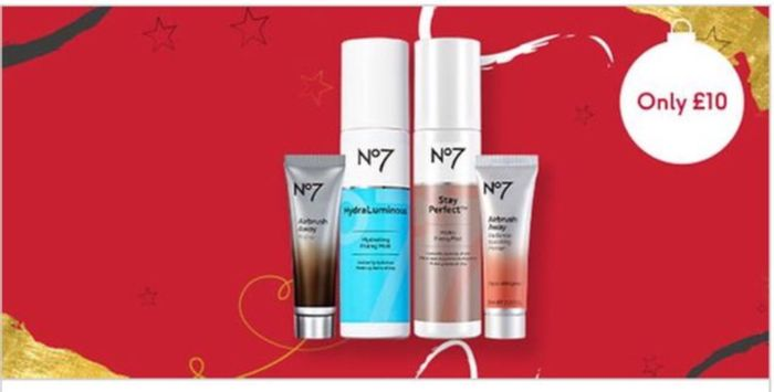 12 Days of Beauty Treats,Only £10 on Selected No7 Primers and Fixing Mists