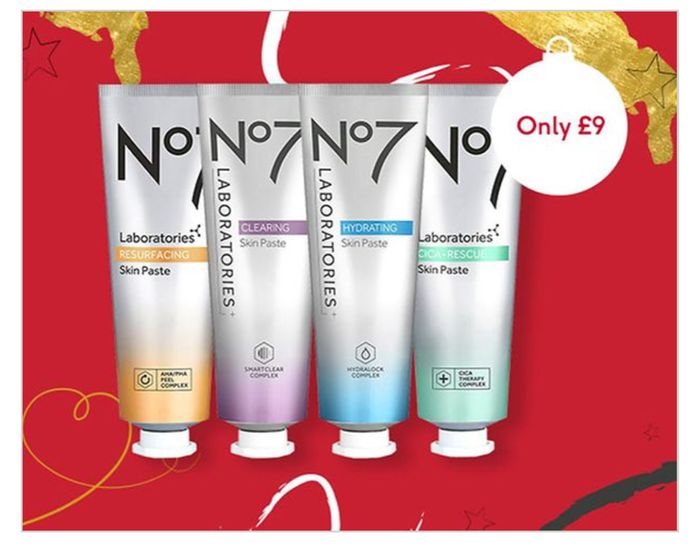 Today Only :1/2 Price No7 LABORATORIES Skin Pastes/3 For 2 On No7/ 3 Only £18