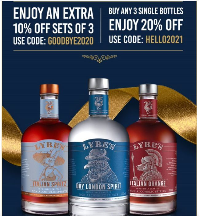Save on Any 3 Bottles at Lyres