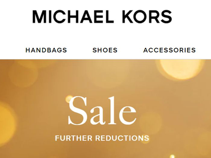 Michael Kors Sale - Further Reductions + New Lines Added!