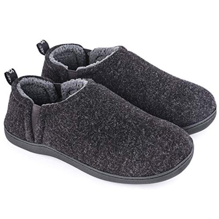 Wool Felt Memory Foam Slippers