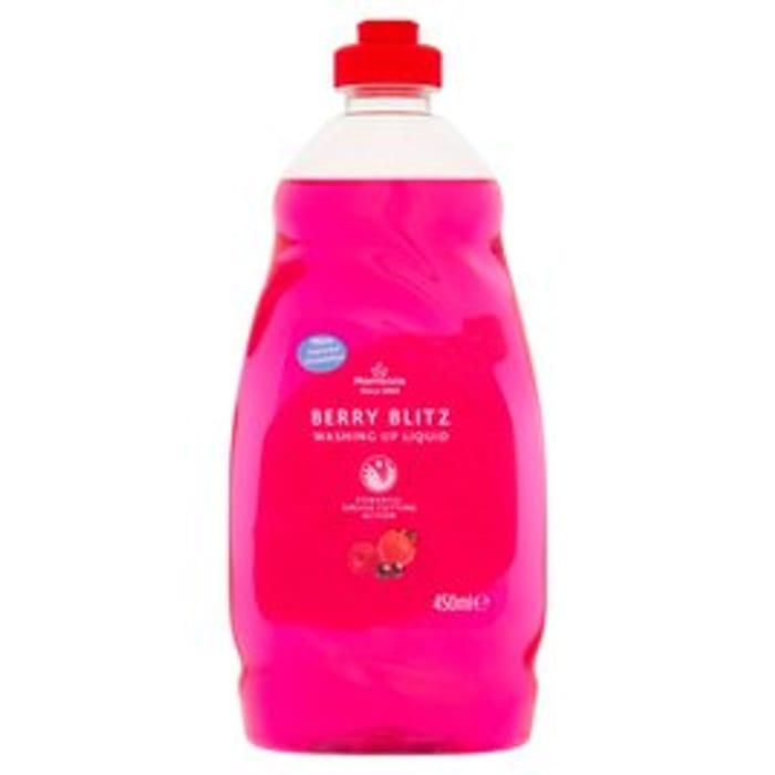 Morrisons Washing Up Liquid 450ml : Berry Blitz \ Original \ Apple \ Lemon
