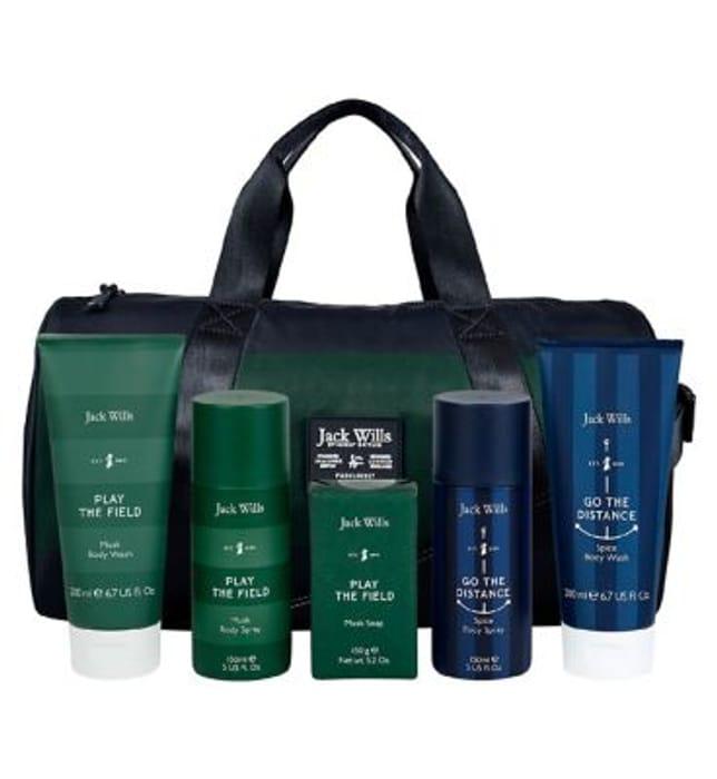 Jack Wills Men Gym Bag Gift Set