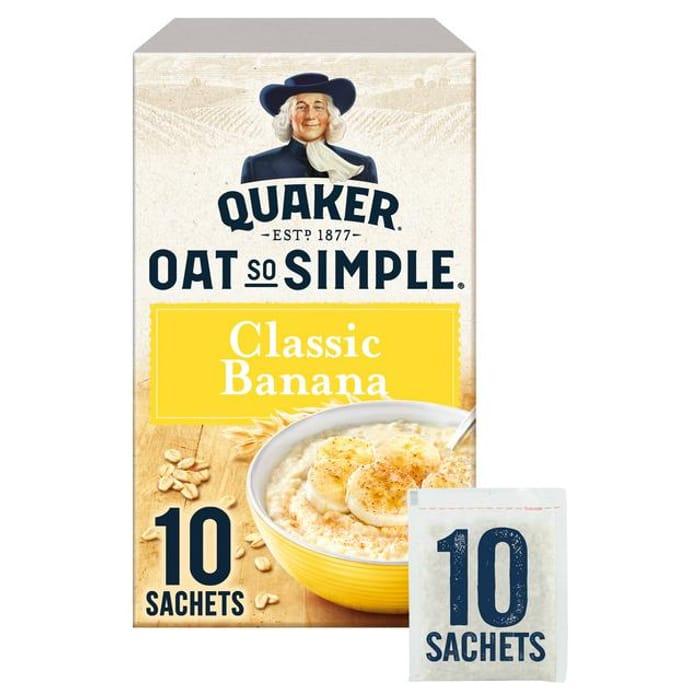 Quaker Oat so Simple Original X 12 / Flavoured X 10 Porridge Sachets