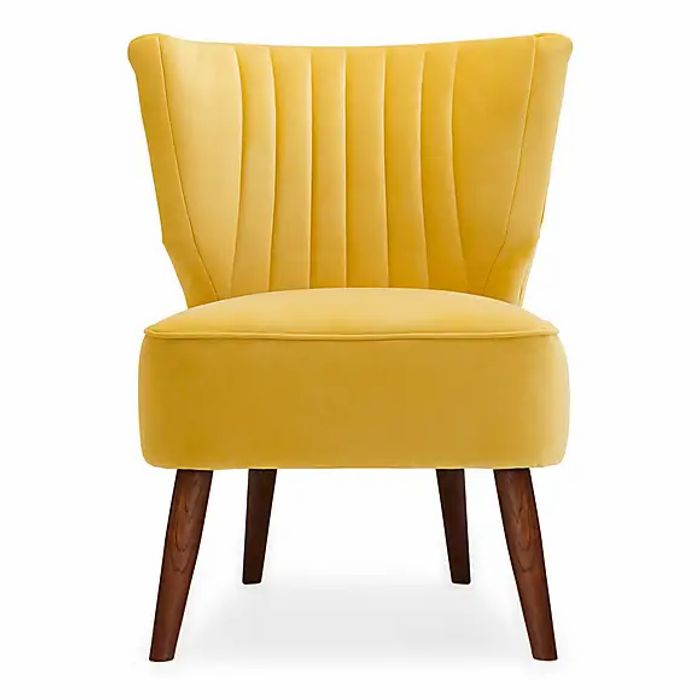 Eva Velvet Wingback Cocktail Chair 3 Colours
