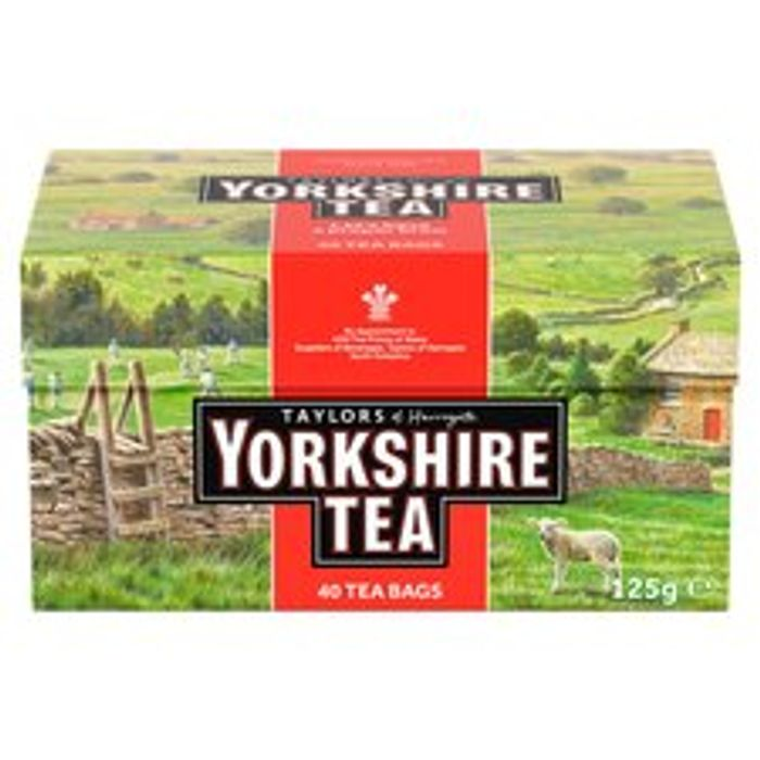 Yorkshire Teabags 40S 125G £1 with Clubcard