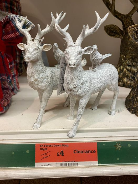 Save £4 Forest Dawn White Stag Objet