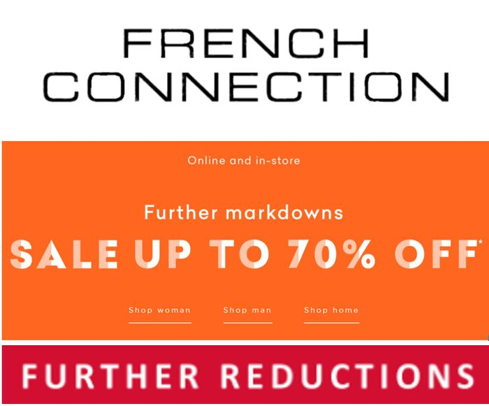 French Connection January Sale - Further Reductions - Now up to 70% Off