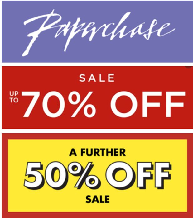 PAPERCHASE SALE - up to 70% off + EXTRA 50% off. BARGAIN 2021 DIARIES!