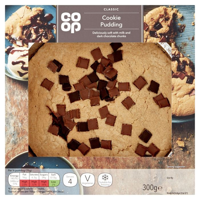 Co-Op Cookie Dough Pudding 300g