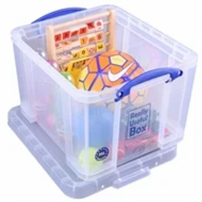 Really Useful Storage Box - Clear - 35L
