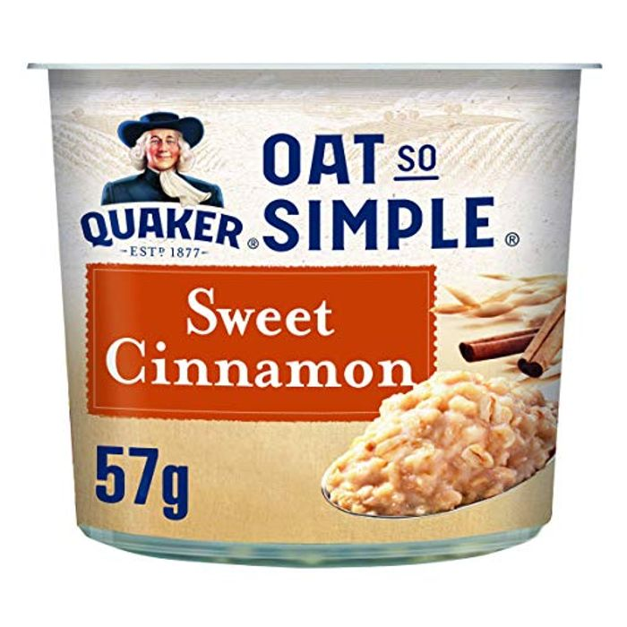 CHEAP! Quaker Oat so Simple Sweet Cinnamon Porridge Pots, 57 G, Pack of 8