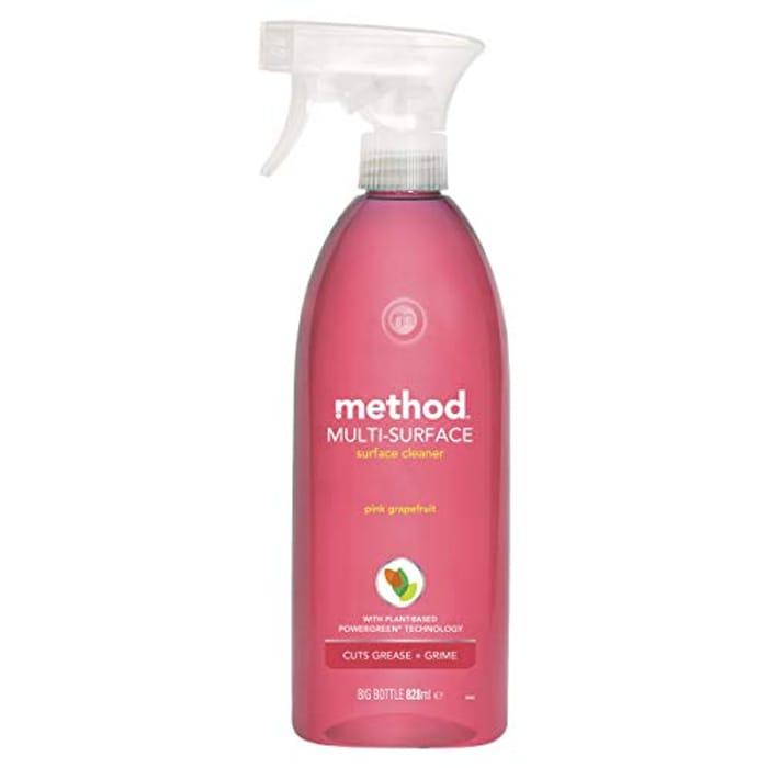 Method Pink Grapefruit All Purpose Multi Surface Cleaner Spray, 828ml