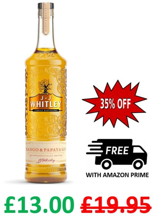 J.J. Whitley Mango & Papaya Gin, 70cl