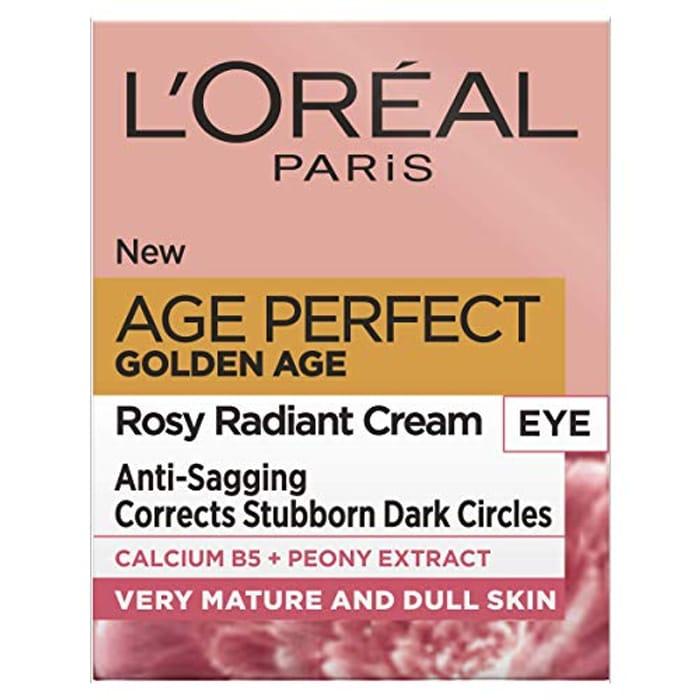 L'Oreal Paris Golden Age Rosy Glow Eye Cream for Dark Circles 15ml