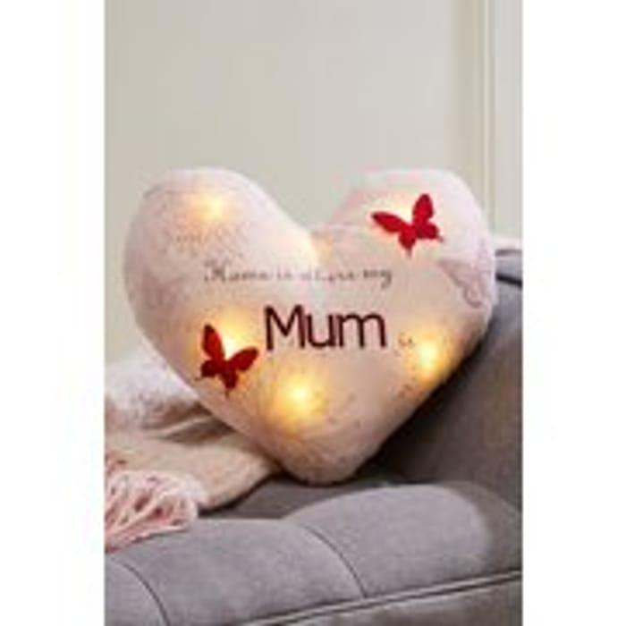 Mum Light-up Heart Cushion