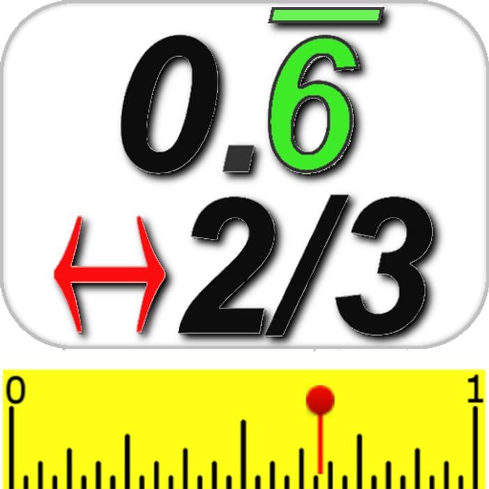 Decimal & Fraction Calculator - Usually £0.89