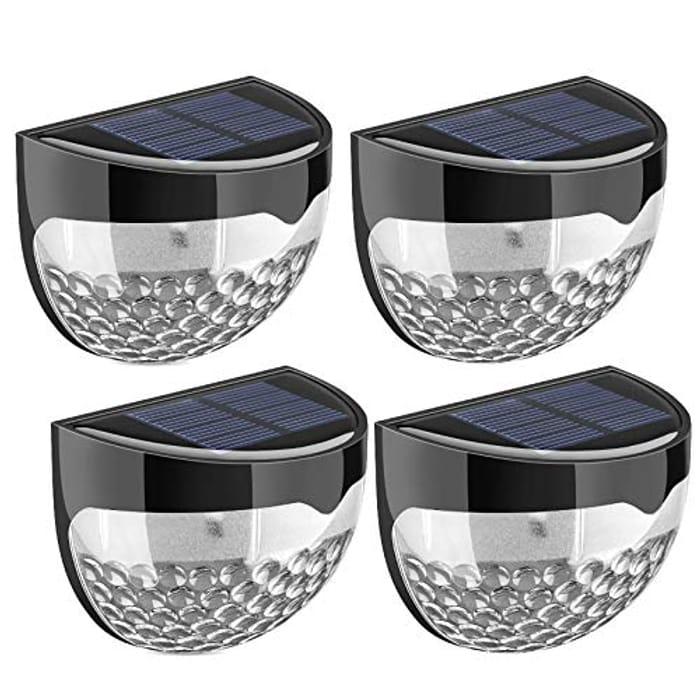 Lightning Deal! Litom Solar Fence Lights (4 Pack)