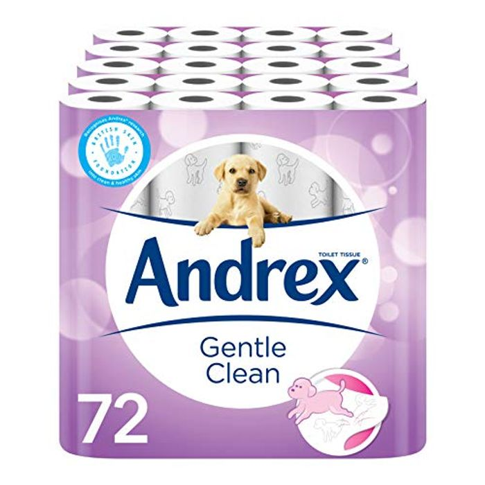 Reduced Further ! Andrex Gentle Clean 72 Toilet Rolls