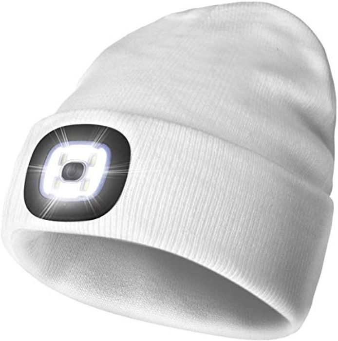 LED Rechargeable Light Beanie Cap