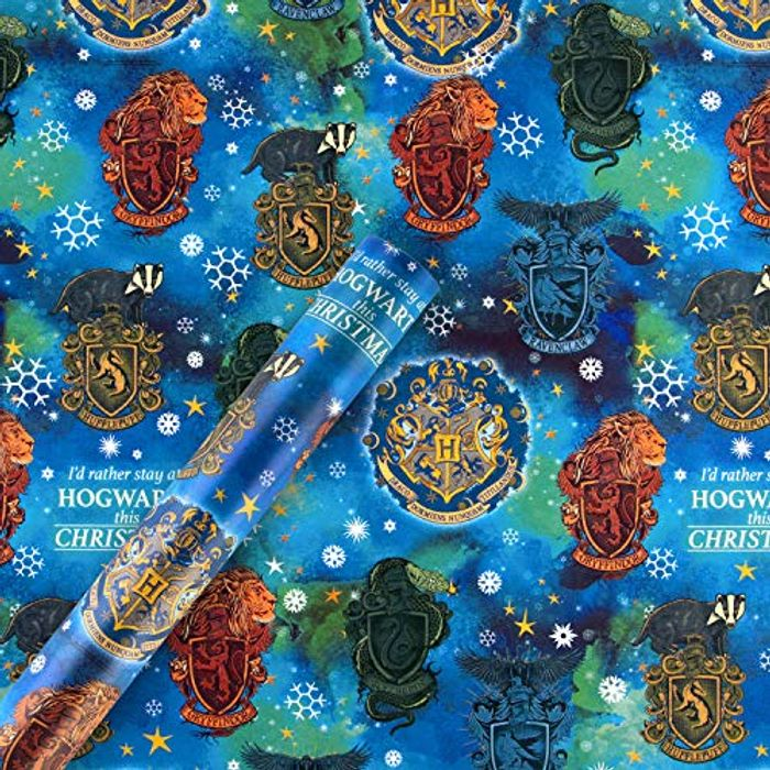 4m Roll of Christmas Wrapping Paper, Harry Potter Design AMAZON FRESH ONLY !!!