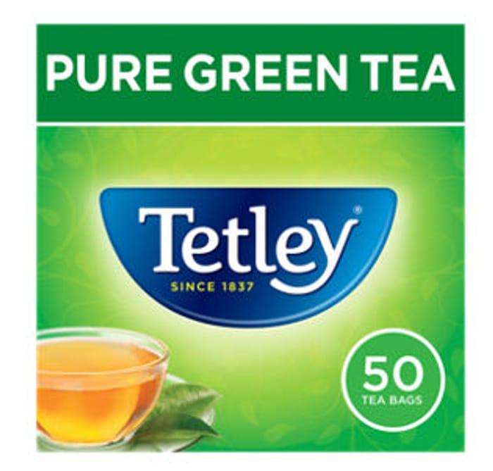 Tetley Pure Green Tea 50 Tea Bags - Only £1!