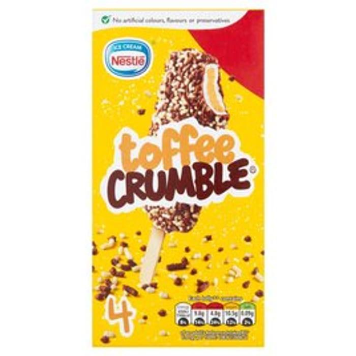 Nestle Toffee Crumble4 X 60ml