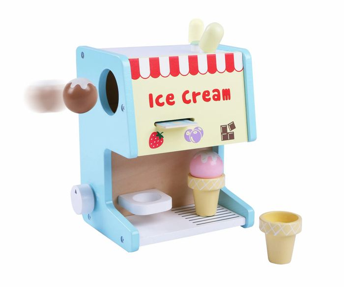 Wooden Ice Cream Machine Counter Stand