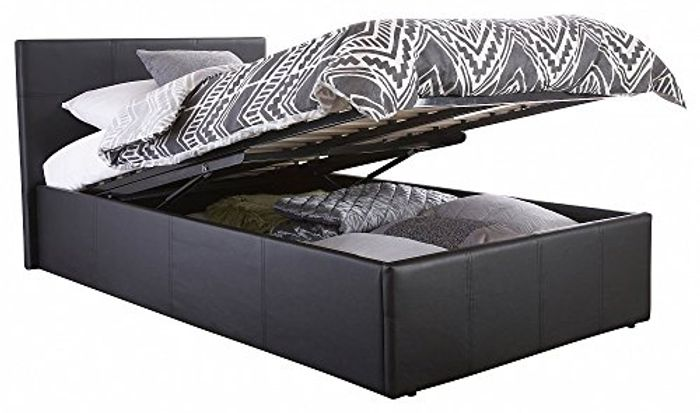 Contemporary End Gas Lift Ottoman Double Bed